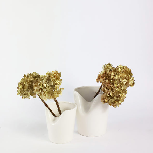 Ceramic Folded Top Vase