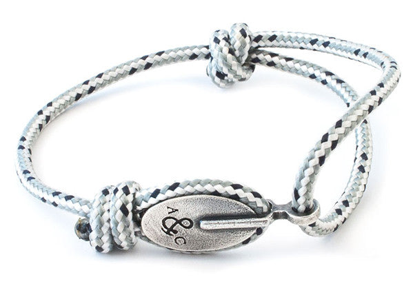 Anchor & Crew Rope & Silver London Bracelet - NMRN - 2