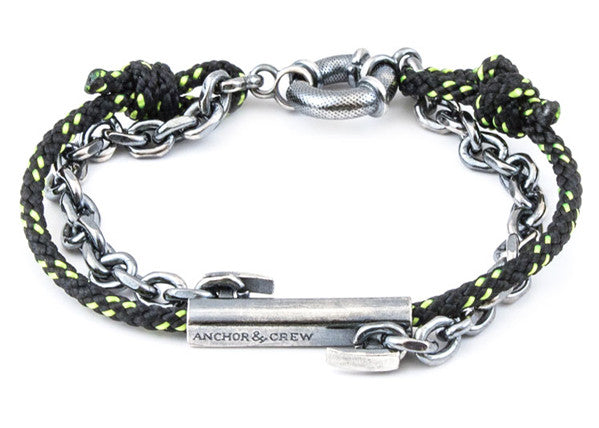Anchor & Crew Rope & Silver Belfast Bracelet - NMRN - 1