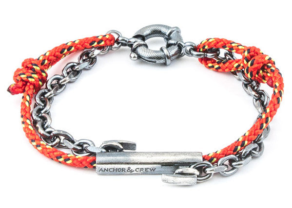 Anchor & Crew Rope & Silver Belfast Bracelet - NMRN - 2
