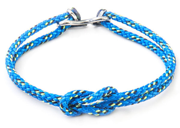 Anchor & Crew Rope & Silver Foyle Bracelet - NMRN - 2