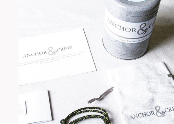 Anchor & Crew Rope & Silver Foyle Bracelet - NMRN - 4