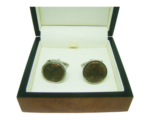 HMS Victory Copper Inset Cufflinks