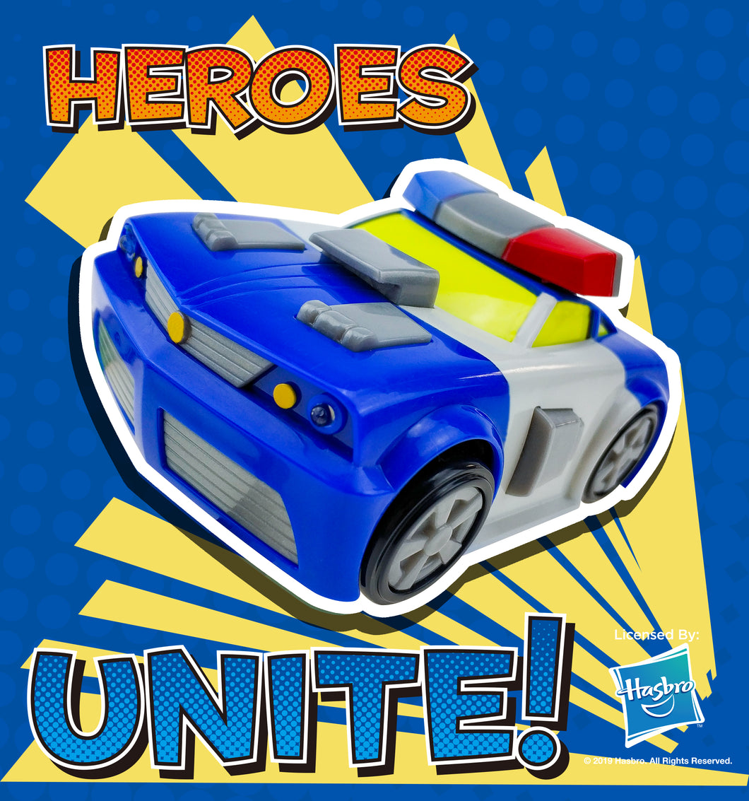 Rescue Bots - 12CM Chase Friction Car