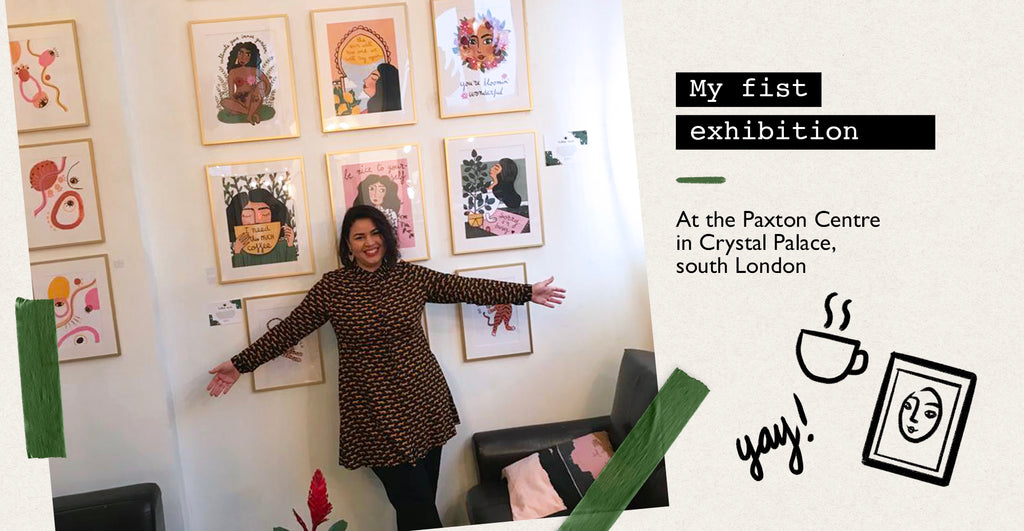 My first exhibition in London
