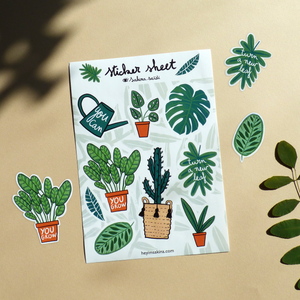 Plant Lovers Stickers Sheet