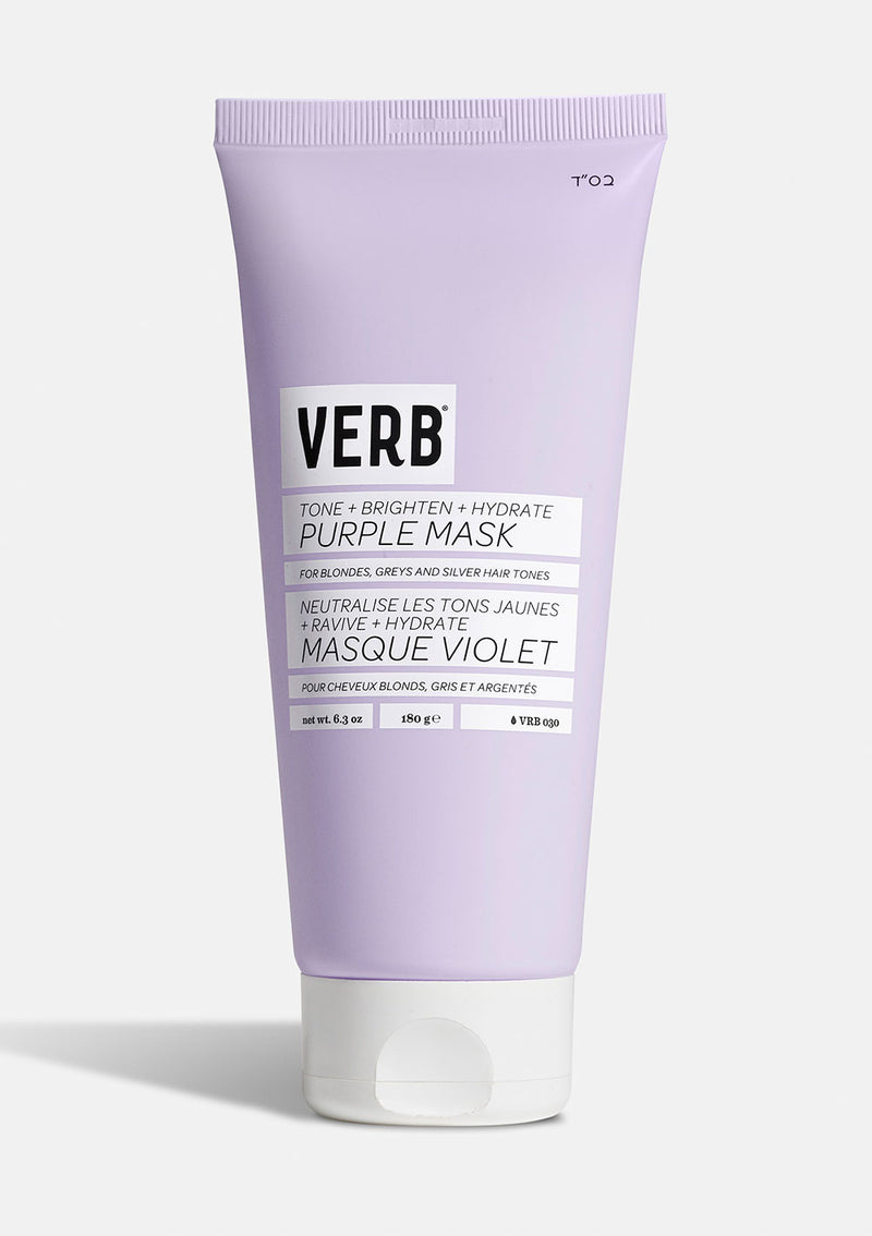 Verb Purple Mask on grey background