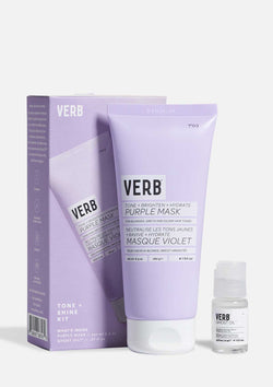 Verb Purple Mask Kit on grey background