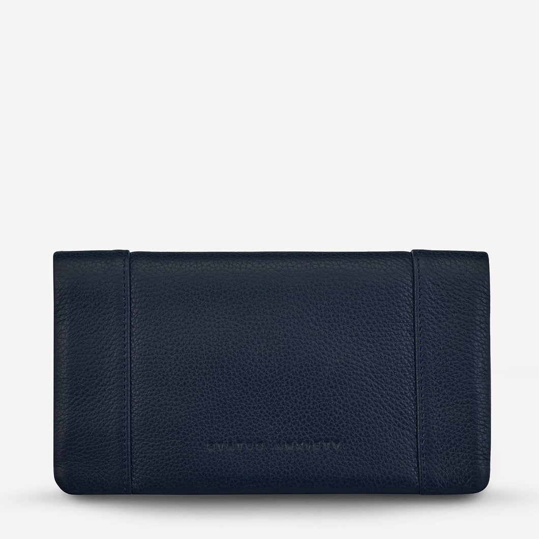 Status Anxiety Some Type of Love Wallet Navy Blue