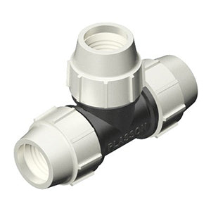 Plasson Mechanical Compression Fittings - 90 Degree Equal Tee