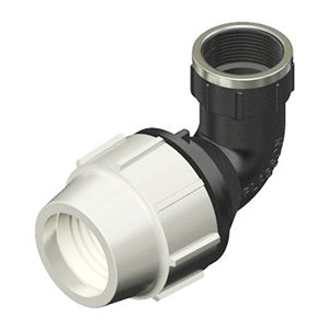 Plasson Mechanical Compression Fittings - 90 Degree Elbow with Threaded Female Offtake