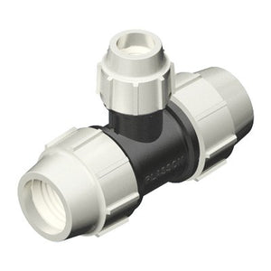 Plasson Mechanical Compression Fittings - 90 Degree Reducing Tee