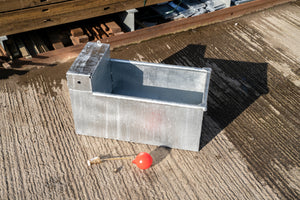 3', 4' and 6' x 16 x 18'' Galvanised Water Trough With Welded Service Box