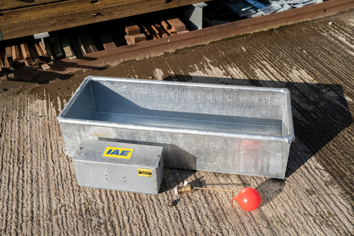 IAE Low Level 16 x 18'' Galvanised Steel Metal Water Trough/Planter 1.2 or 1.8m