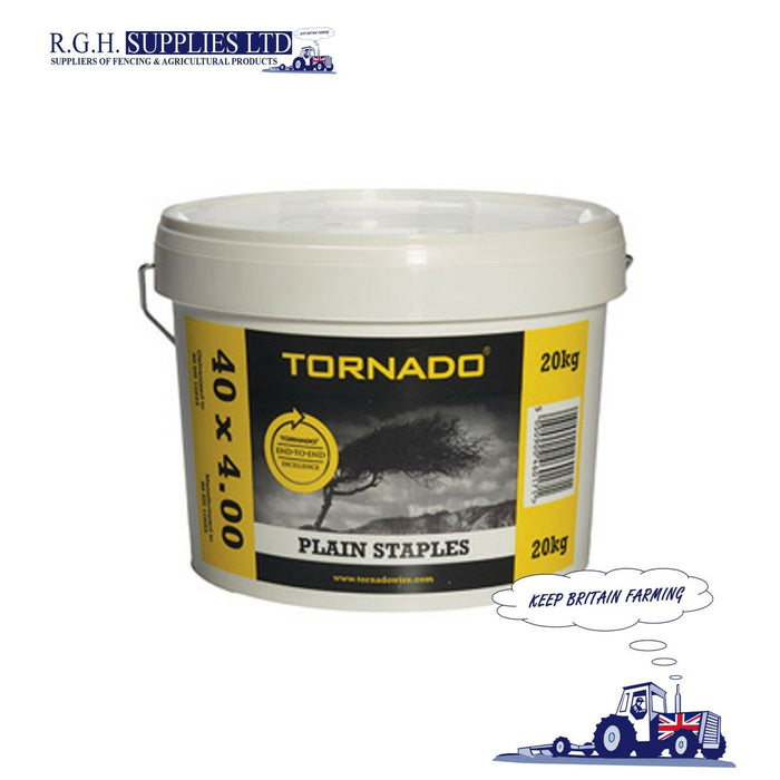 20kg Tornado Barbed Fencing Staples 40 x 4mm - Stockfence Netting Wire Fasteners