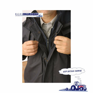 Seal Flex Parka Jacket NAVY BLUE 100% Waterproof - Breathable - 4 Sizes