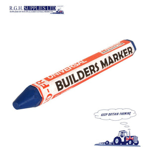 Markal Builders Crayon Blue Marker Weather and Fade Resistant Longer Lasting