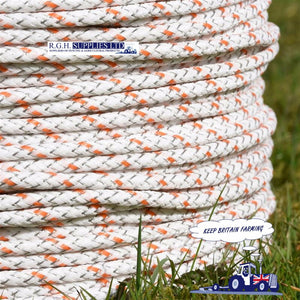 Agrifence Maxicord Orange and White Braided Rope 500M Electric Fence
