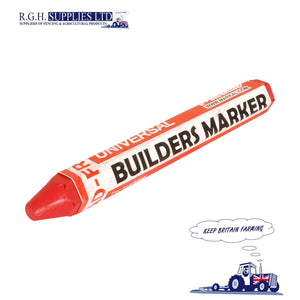 Markal Builders Crayon Red Marker Weather and Fade Resistant Longer Lasting