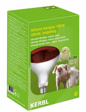 Kerbl Heat Lamp 150W Red - Livestock Poultry Reptile Dogs Infrared Basking