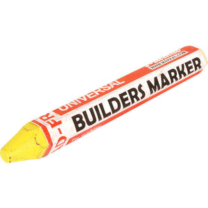 Markal Builders Crayon Yellow Marker Weather and Fade Resistant Longer Lasting