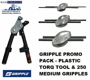 Gripple Promo Torq Tool + 250 Medium Gripple Wire Joiners Bulk Starter Pack