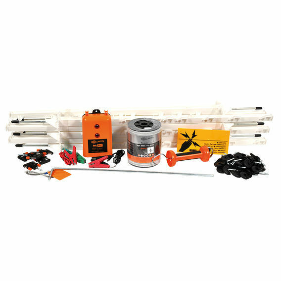 Gallagher Electric Fence Paddock Kit for Horses With B60 Fence Energizer - 12v