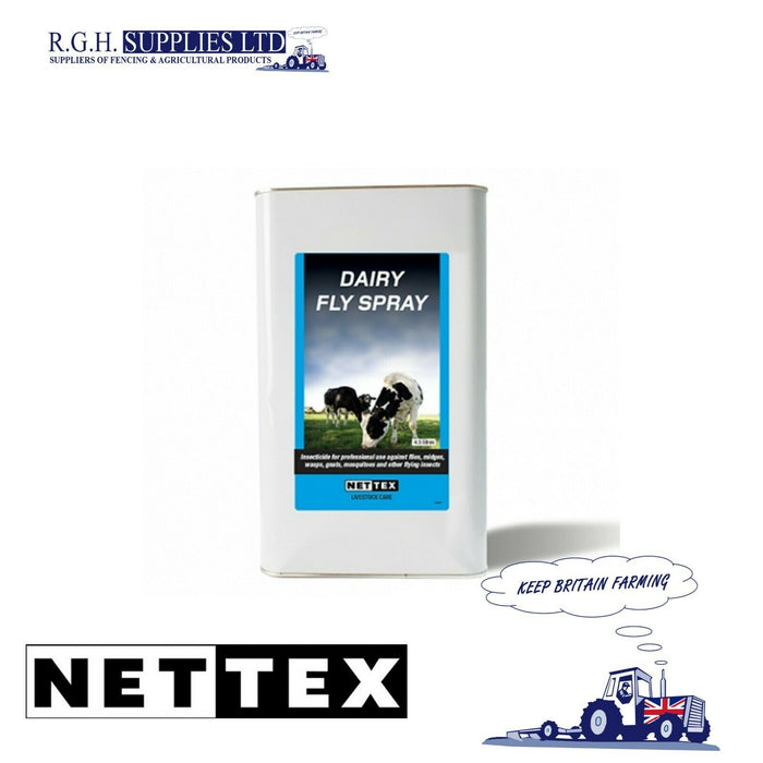Nettex Dairy Fly Spray - 4.5 litre - Contact Killer for Flying Insects