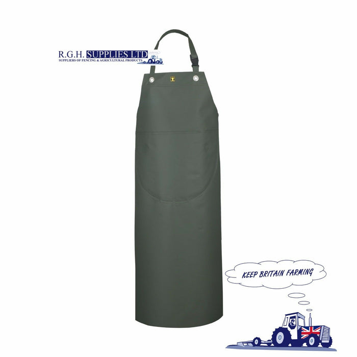 Guy Cotten Isofranc Dairy Apron PVC Coated 420 Fabric - Green