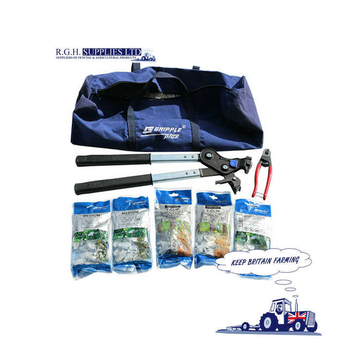 Gripple Fencing Repair Kit - With Contractor Tool and Gripple Wire Cutters