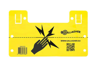 Gallagher Electric Fence Warning Sign - Legal Requirement Near Public Areas