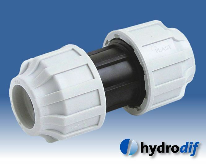 Hydrodif Compression Fitting 25-32mm Elbow Coupler Tee MDPE Blue Water Pipe