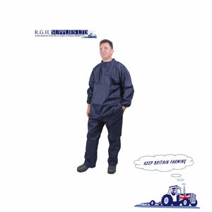 Dairy Spares, Drytex Blue Short Sleeved Parlour Jacket CL21 - Dairy - Milking