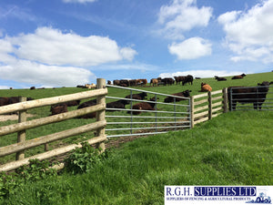 7 Bar Century Metal Field Gate Sliding Bolt or D Loop Farm Gate