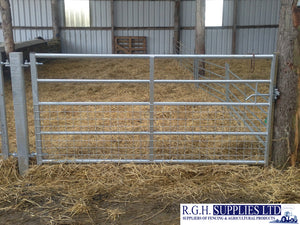 Half Meshed Galvanised Field Gate - Farm Enterance or Security Gate