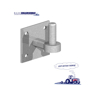 4″ x 4″ Square Hook On Plate – Galvanised