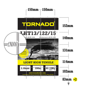 Tornado Wire 100M Roll of LHT13/122/15 High Tensile Universal or Dog Wire Strong