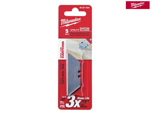 Milwaukee Knife Blades Rounded Edge Pack 5