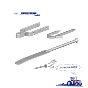 Spring Fastener Set With Staple Catch – Galvanised