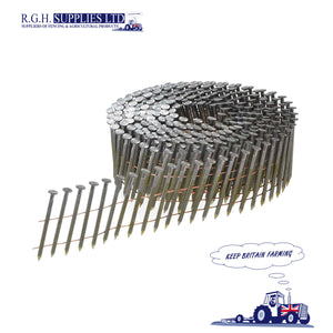 1 x Box 13200no Bostitch 2.3 x 50mm Galvanised Ring Shank Coil Nails N230R50G8Q