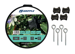 Gripple Garden Trellis Bundle 10 Nylon Gripple Joiners 30M Kit and 50M of Wire