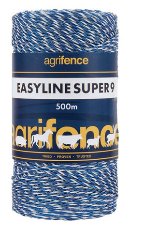 Easyline SUPER 9 White Polywire x 500m