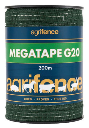 Megatape G20 Green Reinforced Tape 20mm x 200m