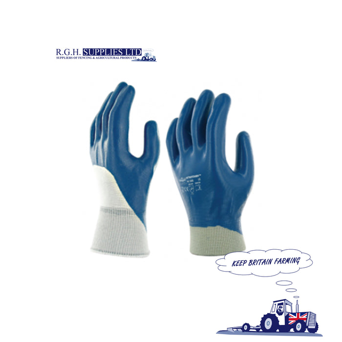 Marigold Industrial 3/4 Dipped Nitrile Rubber Work Gloves