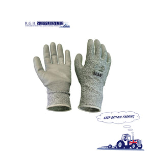 Scan Gray 5 Liner Cut Proof Gloves