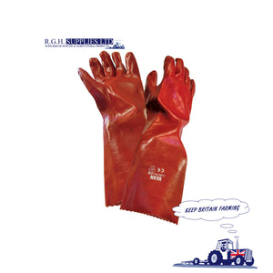 Scan Red PVC Welders Gauntlet