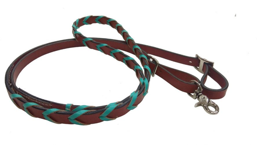 Laced Leather Reins 19622