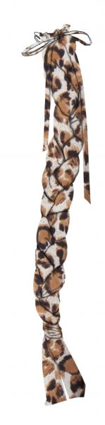 26-6318-L   Durable leopard print Lycra braid-in tail bag