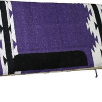 "6143 32"" X 32"" Deluxe Saddle Pad with Kodel Fleece Bottom and Navajo Design"