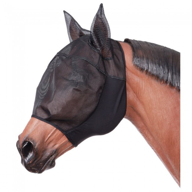 Tough-1 Miniature Lycra Fly Mask with Ears - Black - Mini 85-41